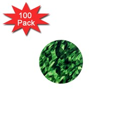 Green Attack 1  Mini Magnets (100 Pack)  by Nexatart