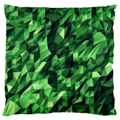 Green Attack Large Flano Cushion Case (one Side) by Nexatart