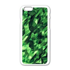 Green Attack Apple Iphone 6/6s White Enamel Case by Nexatart