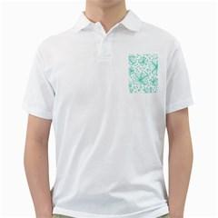 Pattern Floralgreen Golf Shirts
