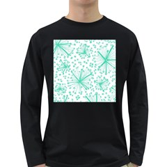 Pattern Floralgreen Long Sleeve Dark T Shirts