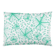 Pattern Floralgreen Pillow Case (two Sides) by Nexatart