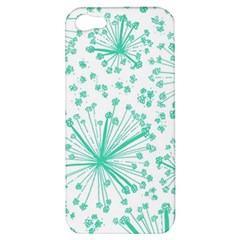 Pattern Floralgreen Apple Iphone 5 Hardshell Case by Nexatart