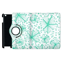 Pattern Floralgreen Apple Ipad 3/4 Flip 360 Case