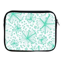 Pattern Floralgreen Apple Ipad 2/3/4 Zipper Cases