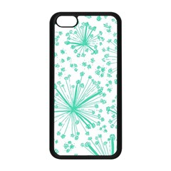 Pattern Floralgreen Apple Iphone 5c Seamless Case (black)