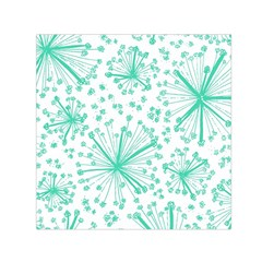 Pattern Floralgreen Small Satin Scarf (square) by Nexatart