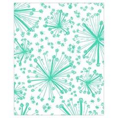 Pattern Floralgreen Drawstring Bag (small)