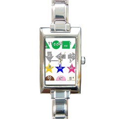Cute Symbol Rectangle Italian Charm Watch