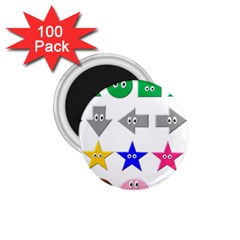 Cute Symbol 1 75  Magnets (100 Pack)  by Nexatart
