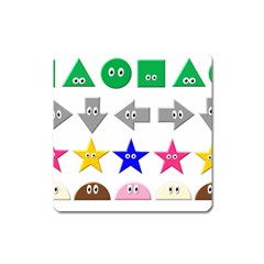 Cute Symbol Square Magnet
