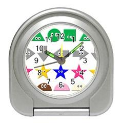 Cute Symbol Travel Alarm Clocks by Nexatart