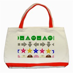 Cute Symbol Classic Tote Bag (red) by Nexatart
