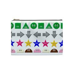 Cute Symbol Cosmetic Bag (medium)