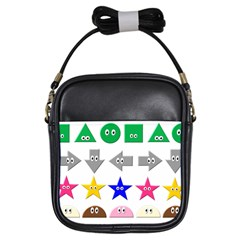 Cute Symbol Girls Sling Bags by Nexatart