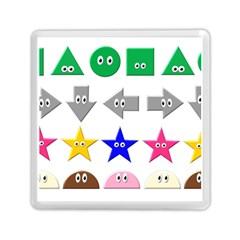Cute Symbol Memory Card Reader (square)  by Nexatart