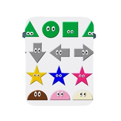 Cute Symbol Apple Ipad 2/3/4 Protective Soft Cases by Nexatart