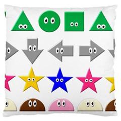 Cute Symbol Large Flano Cushion Case (two Sides)