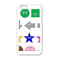 Cute Symbol Apple Iphone 6/6s White Enamel Case