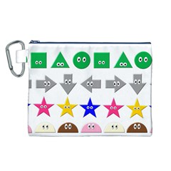 Cute Symbol Canvas Cosmetic Bag (l) by Nexatart