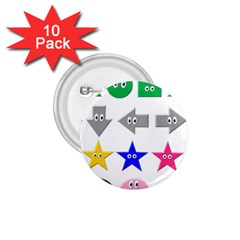 Cute Symbol 1 75  Buttons (10 Pack)