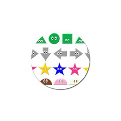 Cute Symbol Golf Ball Marker (4 Pack) by Nexatart