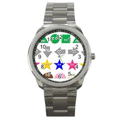 Cute Symbol Sport Metal Watch