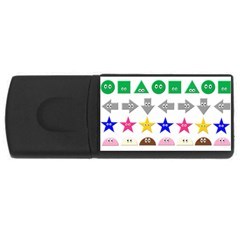 Cute Symbol Usb Flash Drive Rectangular (4 Gb)