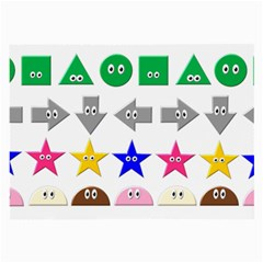Cute Symbol Large Glasses Cloth (2 Side)