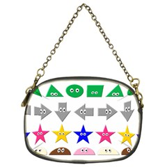 Cute Symbol Chain Purses (one Side)