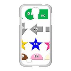 Cute Symbol Samsung Galaxy S4 I9500/ I9505 Case (white)