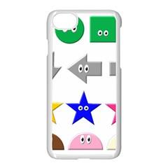 Cute Symbol Apple Iphone 7 Seamless Case (white)