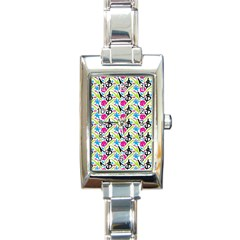 Cool Graffiti Patterns  Rectangle Italian Charm Watch