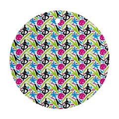 Cool Graffiti Patterns  Round Ornament (two Sides)