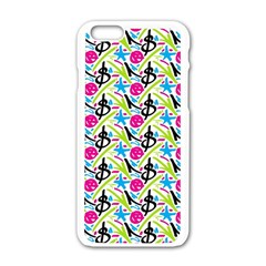 Cool Graffiti Patterns  Apple Iphone 6/6s White Enamel Case by Nexatart