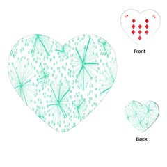 Pattern Floralgreen Playing Cards (heart)