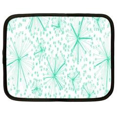 Pattern Floralgreen Netbook Case (large)