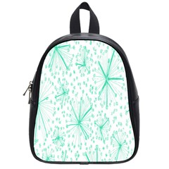 Pattern Floralgreen School Bags (small)  by Nexatart