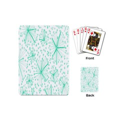 Pattern Floralgreen Playing Cards (Mini)