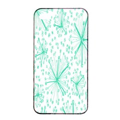 Pattern Floralgreen Apple Iphone 4/4s Seamless Case (black) by Nexatart