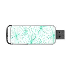 Pattern Floralgreen Portable Usb Flash (one Side)