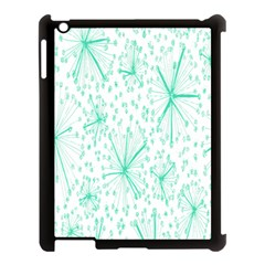 Pattern Floralgreen Apple Ipad 3/4 Case (black) by Nexatart