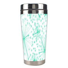 Pattern Floralgreen Stainless Steel Travel Tumblers by Nexatart