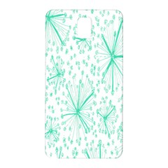 Pattern Floralgreen Samsung Galaxy Note 3 N9005 Hardshell Back Case
