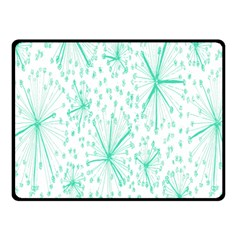 Pattern Floralgreen Double Sided Fleece Blanket (small)