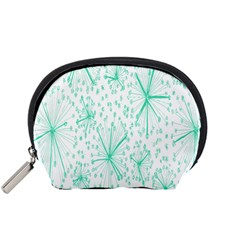 Pattern Floralgreen Accessory Pouches (small)