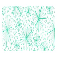 Pattern Floralgreen Double Sided Flano Blanket (small)