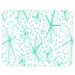 Pattern Floralgreen Double Sided Flano Blanket (medium)  by Nexatart