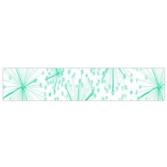Pattern Floralgreen Flano Scarf (small) by Nexatart