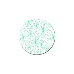 Pattern Floralgreen Golf Ball Marker by Nexatart